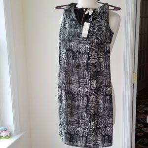 Japana Black & White Sleeveless Dress